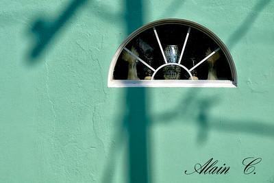 The green half moon window