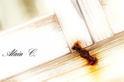 Papillon de la vieille fenêtre