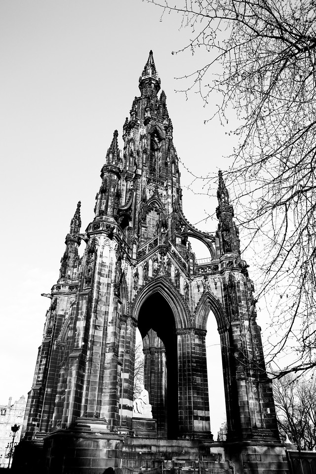 Sir Walter Scot monument <br /> Edinburgh, Scotland April 2012<br /> Canon 5D MkII 24-70F2.8L
