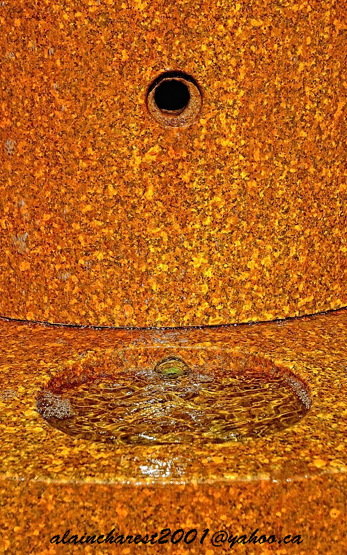 Orange water fountain