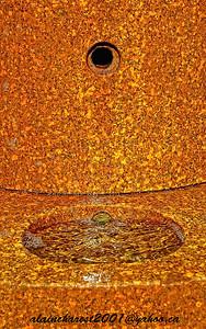 Orange water fountain