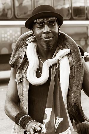 Snake Man Art Basel Miami 2012
