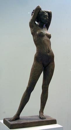 Sculpture class offered each semester. Small bronze figure.