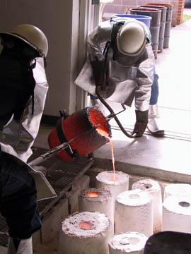 Sculpture class offered each semester. Bronze pouring.
