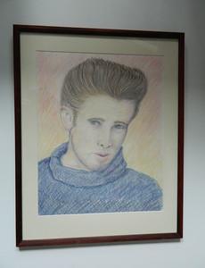 15 The Rebel: a study of James Dean - color pencil, 22x17. NFS