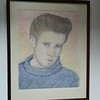 15 The Rebel: a study of James Dean - color pencil, 22x17. NFS