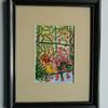 5 Flowery Window - watercolor, 7x5. $50