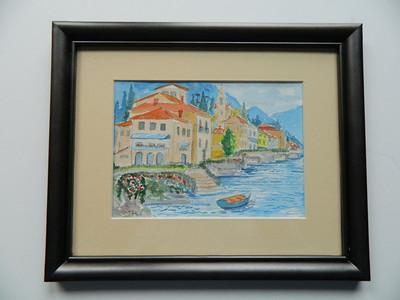 3. Lake Maggiore, Italy II - watercolor, 5x7. $75