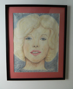 14 Marilyn - color pencil, 23x17. NFS