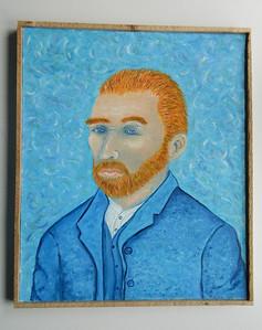 21 Vincent - Homage to Van Gogh - oil, 24x20. $500