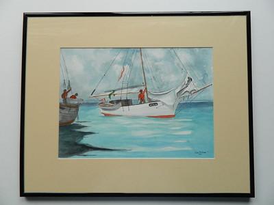 30 Nina, Homage to Homer - watercolor, 10x14. NFS