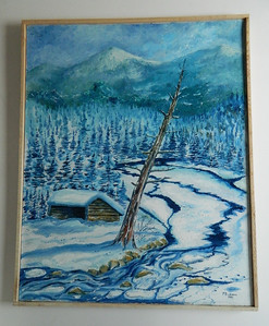 38 Cold River Lean-to - oil, 30x24. $600
