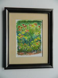 8 Flower Garden I - watercolor, 7x5. $50
