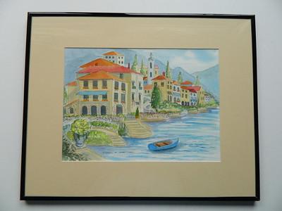 26 Italian Village - watercolor, 10x14. NFS