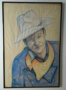 12 The Duke: A study of John Wayne - pastel on paper, 36x24. NFS