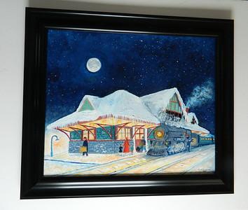 41 Night Train ; January, 1932, Saranac Lake - oil, 20x24. $750