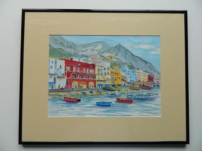 27 Capri, Italy - watercolor, 10x14. NFS