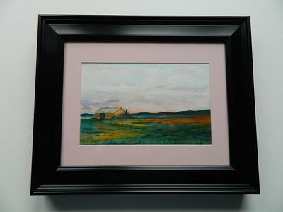 19 Old Barn, Gabriels - watercolor, 6x10. $100