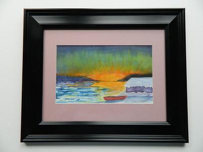 20 Ampersand Bay, Winterset - watercolor, 6x10. $100