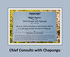 Sign for 'Chief Consults with Chapungu