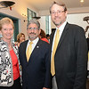 Fitchburg Art Museum Director Nick Capasso (right) poses for a photo with Marty Jones, (left)  President and CEO of MassDevelopment and State Representative Stephen DiNatale (center) at the Fitchburg Art Museum during a celebration event on Wednesday evening. FAM was recently awarded $140,000 grant from the Massachusetts Cultural Facilities Fund to update and modernize parts of the museum. The grant was awarded by the Massachusetts Cultural Council. SENTINEL & ENTERPRISE / Ashley Green