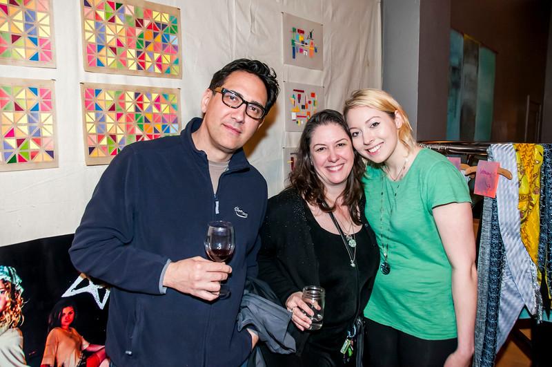 Maura & Cari @ NoBL First Friday Art Opening
