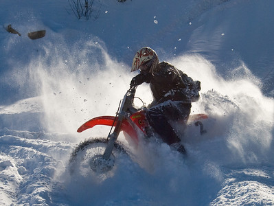 Dirt Bike in the snow