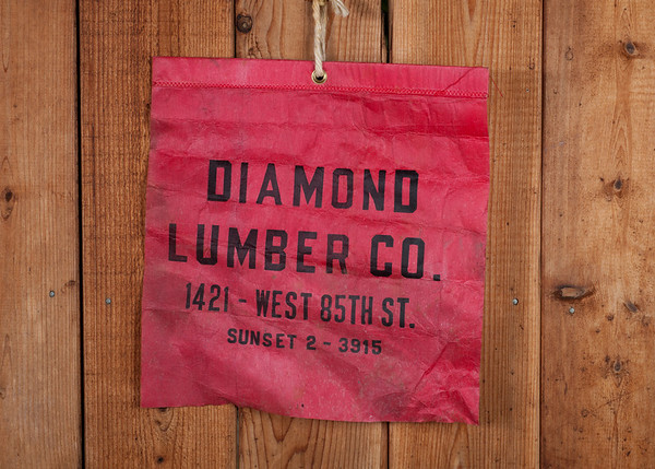 Lumber flag found under a stairway in a 1926 house in Seattle.