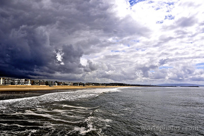 Ominous Clouds Over Santa Monica