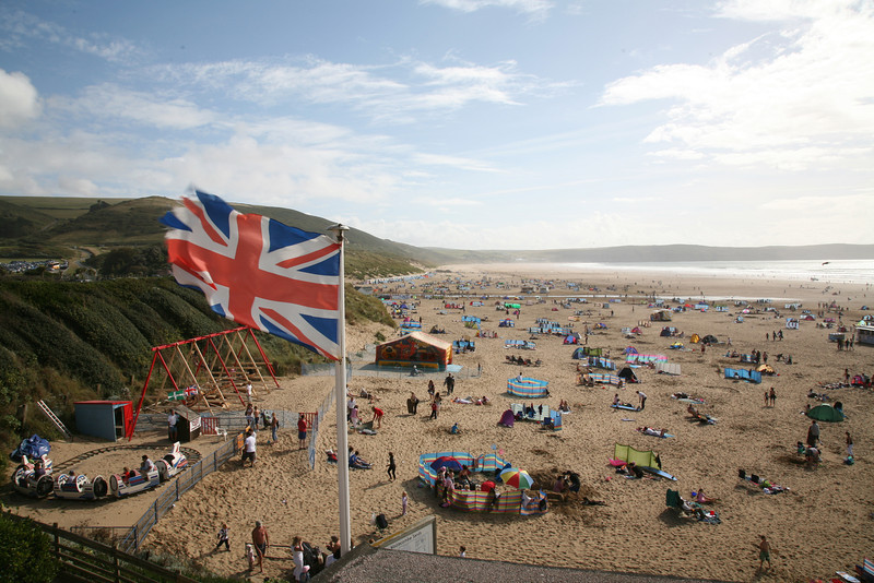 Woolacombe, Devon, UK.