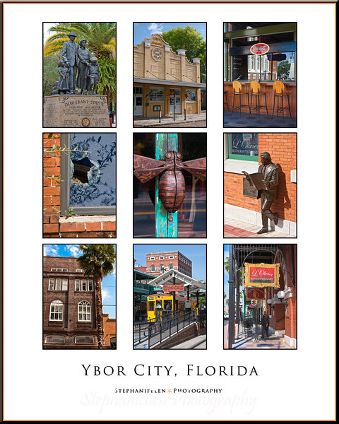 Ybor City, FL Collage 16x 20""