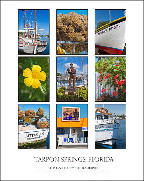 """Tarpon Springs Collage 16x20"""""""