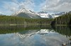 ...moraine lake mirror in alberta canada (canadian rockies) near jasper/banff...