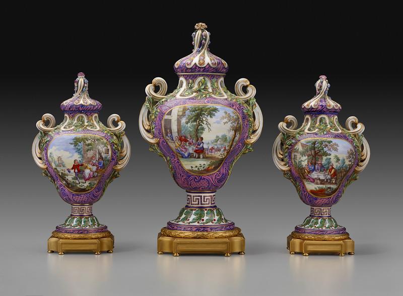 Pot-Pourri Myrte with Flemish Scenes and Landscapes, c.1762
