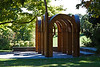 Small Park with Arches 01<br /> Artist:  Alice Adams.  Created 1984.  Laminated wood.<br /> <br /> The sculpture presents a chapel-like space that continues to be a popular venue for weddings.<br /> <br /> Toledo Botanical Garden, Ohio<br /> October 4, 2011