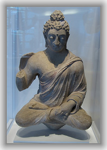 Gandhara region between Pakistan and Afghanitan. Seated Buddha.4-5th century.