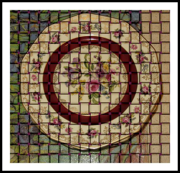 Rose pattern china plate