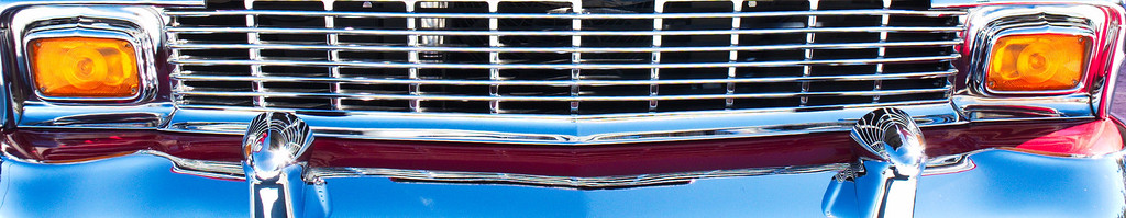Grille detail. 1956 Chevrolet.
