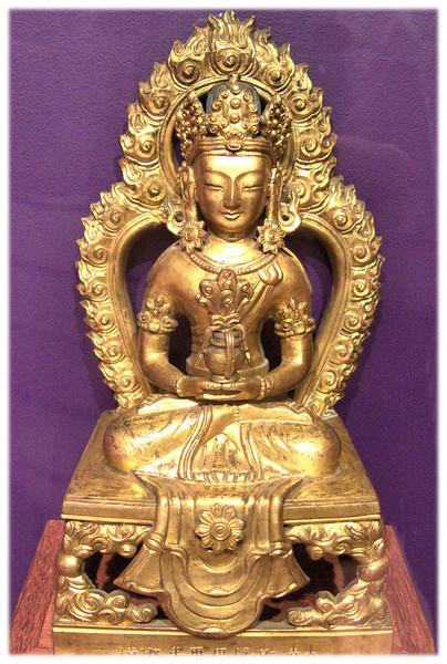 Amitayus buddha. China. Gilt Bronze. 18th century.