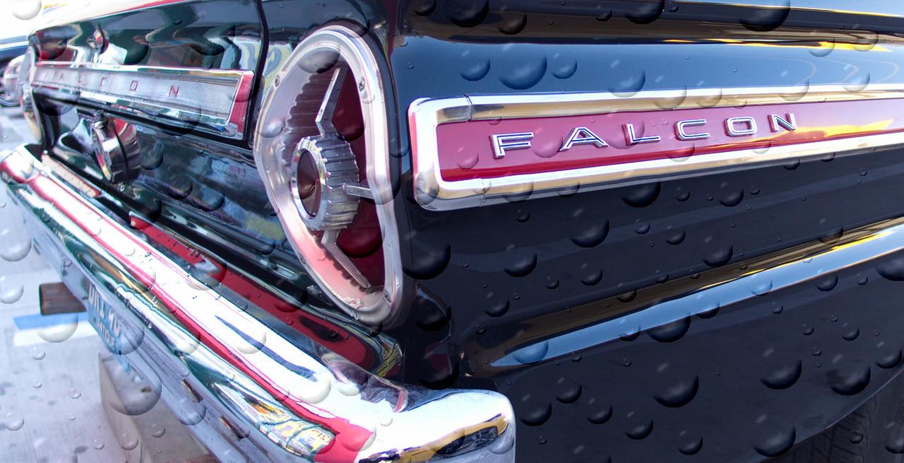 Ford Falcon. Rain spots added in post.