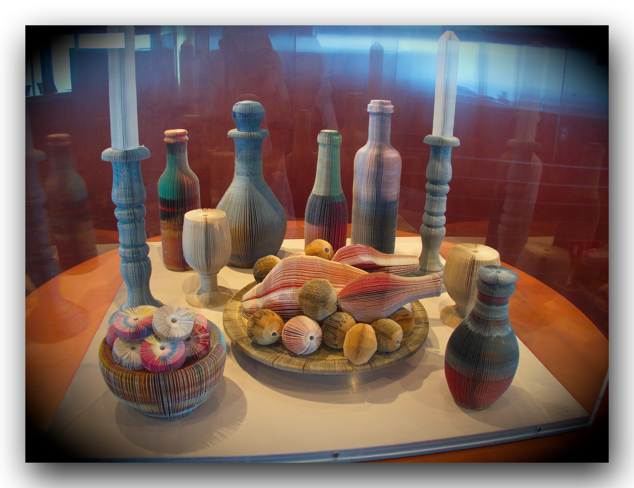 Candles, Bottles, Goblets and Fruit