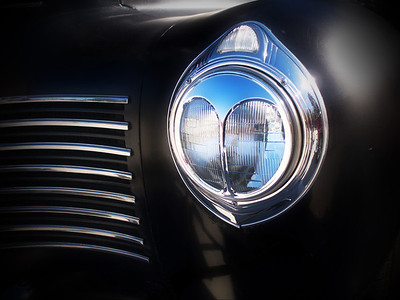 Head lamp. 1940 Plymouth.