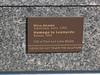 Plaque for American Horse by Nina Akamu, a three piece Homage to Leonardo, bronze, 1998.<br /> <br /> DeVos Van Andel Piazza,<br /> Frederik Meijer Gardens and Sculpture Park,<br /> Grand Rapids, Michigan