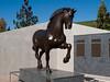 American Horse by Nina Akamu, a three piece Homage to Leonardo, bronze, 1998.<br /> <br /> The 8-ft version of American Horse<br /> <br /> DeVos Van Andel Piazza,<br /> Frederik Meijer Gardens and Sculpture Park,<br /> Grand Rapids, Michigan