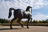 American Horse (24 foot version) by Nina Akamu (American, b. 1955), bronze, 1998<br /> .<br /> DeVos Van Andel Piazza,<br /> Frederik Meijer Gardens and Sculpture Park,<br /> Grand Rapids, Michigan<br /> October 16, 2012