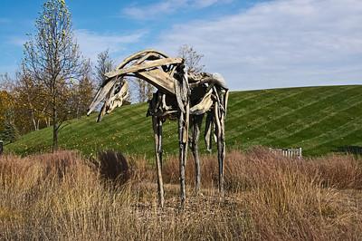 Cabin Creek - Sculpture, Bronze
