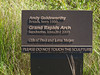 Plaque for Grand Rapids Arch, sandstone,<br /> <br /> Andy Goldsworthy, 2005.