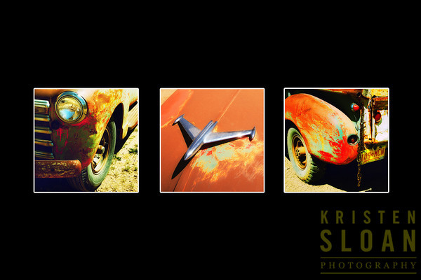 """Arroyo Chevy Pickup Series # 3, #4, #5<br /> 24""""x 24"""" giclee on stretched canvas. $1200 for the series of 3"""