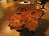 Sam Maloof eucalyptus burl table, Mingei International Museum, 11 Jun 2006