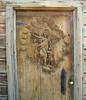 Carved door on an abandoned shack.  Olancha, 1 Mar 2007.